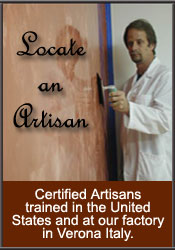 Locste an Artisan qualified to apply true Venetian Plasters